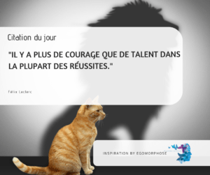 DU COURAGE PLUS QUE DU TALENT